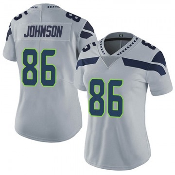 Women's Nike Seattle Seahawks Justin Johnson Gray Alternate Vapor Untouchable Jersey - Limited