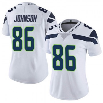 Women's Nike Seattle Seahawks Justin Johnson White Vapor Untouchable Jersey - Limited