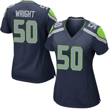 Women's Nike Seattle Seahawks K.J. Wright Navy Team Color Jersey - Game