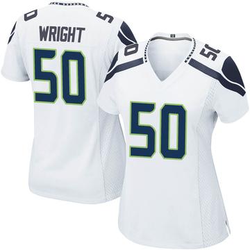 Women's Nike Seattle Seahawks K.J. Wright White Jersey - Game