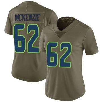 Women's Nike Seattle Seahawks Kahlil McKenzie Green 2017 Salute to Service Jersey - Limited