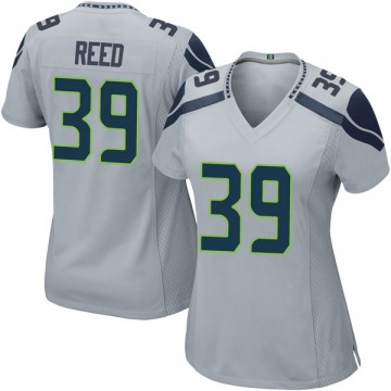 Women's Nike Seattle Seahawks Kalan Reed Gray Alternate Jersey - Game