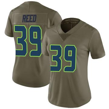Women's Nike Seattle Seahawks Kalan Reed Green 2017 Salute to Service Jersey - Limited