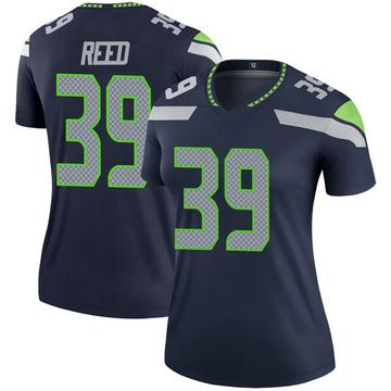 Women's Nike Seattle Seahawks Kalan Reed Navy Jersey - Legend