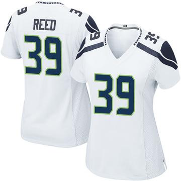 Women's Nike Seattle Seahawks Kalan Reed White Jersey - Game
