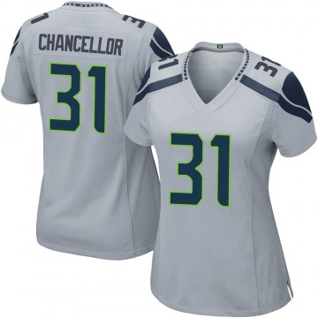 Women's Nike Seattle Seahawks Kam Chancellor Gray Alternate Jersey - Game