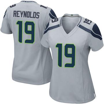 Women's Nike Seattle Seahawks Keenan Reynolds Gray Alternate Jersey - Game