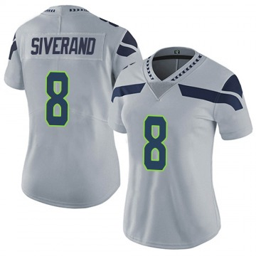 Women's Nike Seattle Seahawks Kemah Siverand Gray Alternate Vapor Untouchable Jersey - Limited