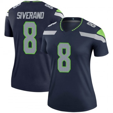 Women's Nike Seattle Seahawks Kemah Siverand Navy Jersey - Legend