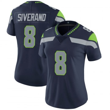 Women's Nike Seattle Seahawks Kemah Siverand Navy Team Color Vapor Untouchable Jersey - Limited