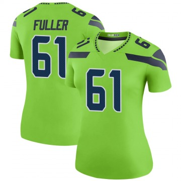 Women's Nike Seattle Seahawks Kyle Fuller Green Color Rush Neon Jersey - Legend