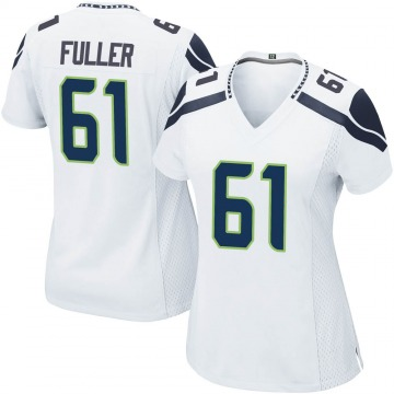 Women's Nike Seattle Seahawks Kyle Fuller White Jersey - Game