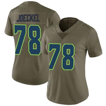 Women's Nike Seattle Seahawks Luke Joeckel Green 2017 Salute to Service Jersey - Limited