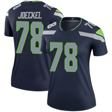 Women's Nike Seattle Seahawks Luke Joeckel Navy Jersey - Legend