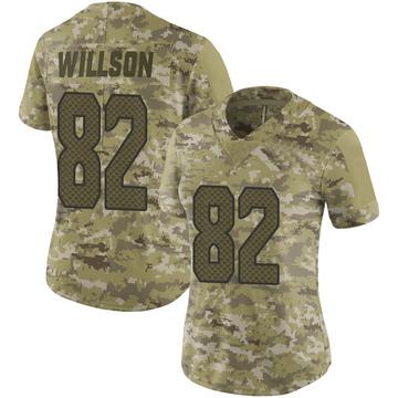 Women's Nike Seattle Seahawks Luke Willson Camo 2018 Salute to Service Jersey - Limited