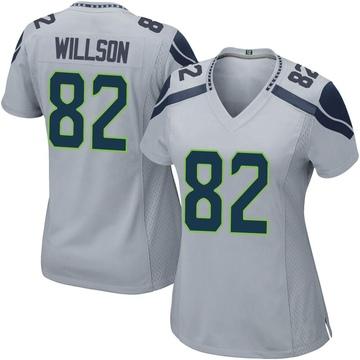 Women's Nike Seattle Seahawks Luke Willson Gray Alternate Jersey - Game