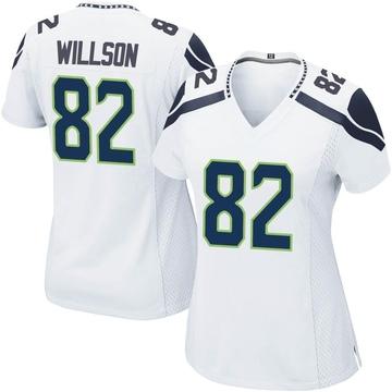 Women's Nike Seattle Seahawks Luke Willson White Jersey - Game