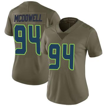 Women's Nike Seattle Seahawks Malik McDowell Green 2017 Salute to Service Jersey - Limited