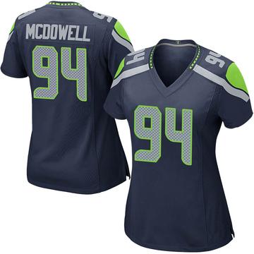 Women's Nike Seattle Seahawks Malik McDowell Navy Team Color Jersey - Game