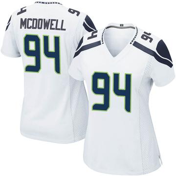 Women's Nike Seattle Seahawks Malik McDowell White Jersey - Game
