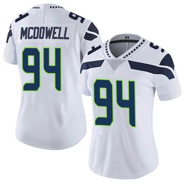 Women's Nike Seattle Seahawks Malik McDowell White Vapor Untouchable Jersey - Limited