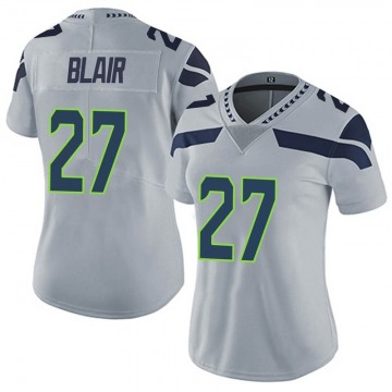 Women's Nike Seattle Seahawks Marquise Blair Gray Alternate Vapor Untouchable Jersey - Limited