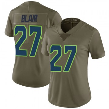 Women's Nike Seattle Seahawks Marquise Blair Green 2017 Salute to Service Jersey - Limited