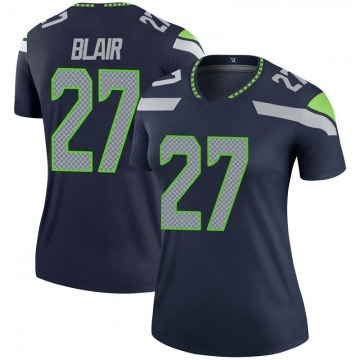 Women's Nike Seattle Seahawks Marquise Blair Navy Jersey - Legend