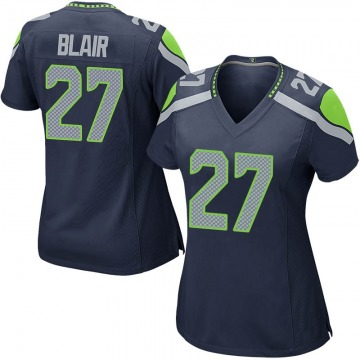 Women's Nike Seattle Seahawks Marquise Blair Navy Team Color Jersey - Game