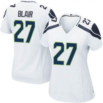 Women's Nike Seattle Seahawks Marquise Blair White Jersey - Game