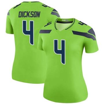 Women's Nike Seattle Seahawks Michael Dickson Green Color Rush Neon Jersey - Legend