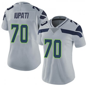 Women's Nike Seattle Seahawks Mike Iupati Gray Alternate Vapor Untouchable Jersey - Limited