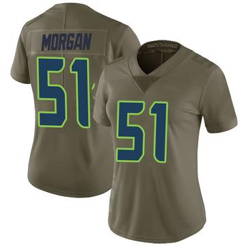 Women's Nike Seattle Seahawks Mike Morgan Green 2017 Salute to Service Jersey - Limited