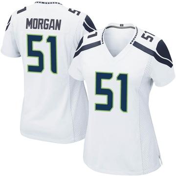 Women's Nike Seattle Seahawks Mike Morgan White Jersey - Game