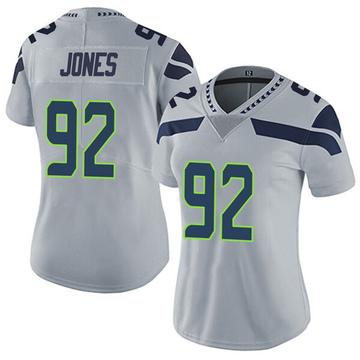 Women's Nike Seattle Seahawks Nazair Jones Gray Alternate Vapor Untouchable Jersey - Limited