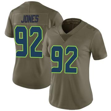 Women's Nike Seattle Seahawks Nazair Jones Green 2017 Salute to Service Jersey - Limited