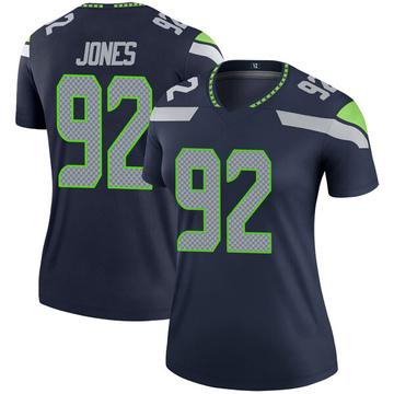 Women's Nike Seattle Seahawks Nazair Jones Navy Jersey - Legend