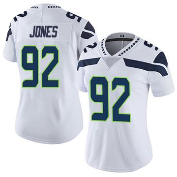 Women's Nike Seattle Seahawks Nazair Jones White Vapor Untouchable Jersey - Limited
