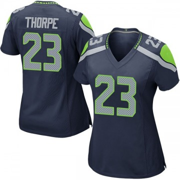 Women's Nike Seattle Seahawks Neiko Thorpe Navy Team Color Jersey - Game
