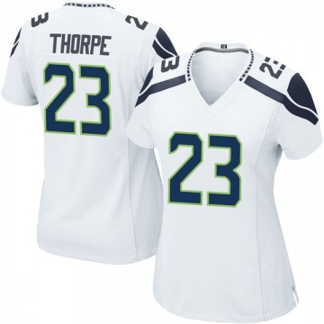 Women's Nike Seattle Seahawks Neiko Thorpe White Jersey - Game