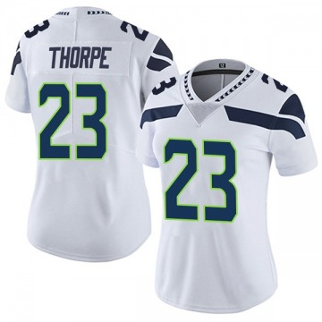Women's Nike Seattle Seahawks Neiko Thorpe White Vapor Untouchable Jersey - Limited