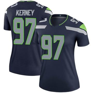 Women's Nike Seattle Seahawks Patrick Kerney Navy Jersey - Legend