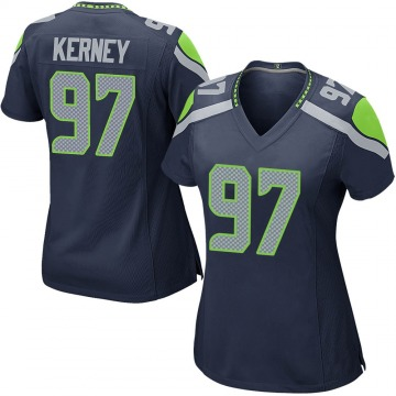 Women's Nike Seattle Seahawks Patrick Kerney Navy Team Color Jersey - Game