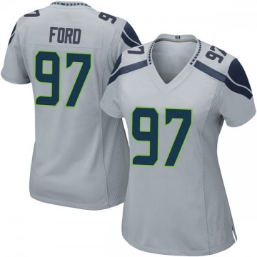 Women's Nike Seattle Seahawks Poona Ford Gray Alternate Jersey - Game