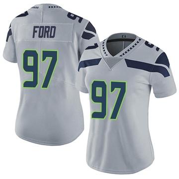 Women's Nike Seattle Seahawks Poona Ford Gray Alternate Vapor Untouchable Jersey - Limited