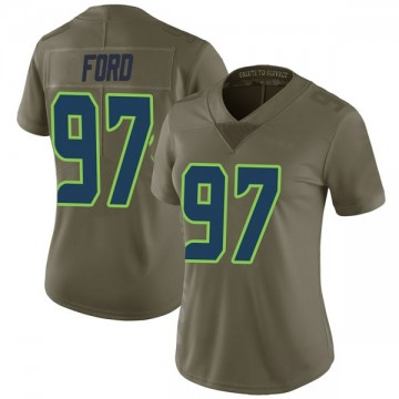 Women's Nike Seattle Seahawks Poona Ford Green 2017 Salute to Service Jersey - Limited