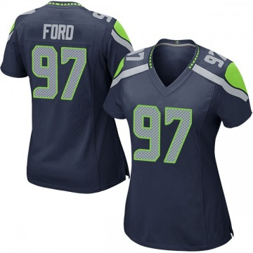 Women's Nike Seattle Seahawks Poona Ford Navy Team Color Jersey - Game