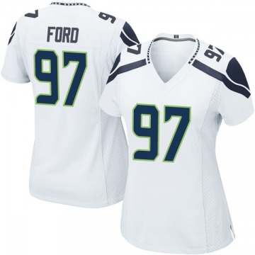 Women's Nike Seattle Seahawks Poona Ford White Jersey - Game