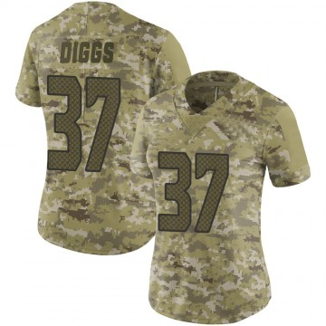 Women's Nike Seattle Seahawks Quandre Diggs Camo 2018 Salute to Service Jersey - Limited