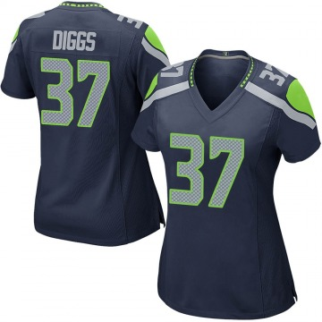 Women's Nike Seattle Seahawks Quandre Diggs Navy Team Color Jersey - Game